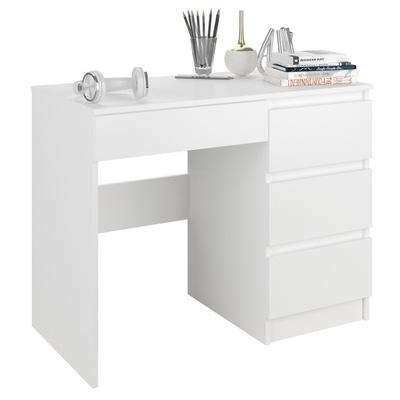 Meble Biurko komputerowe stolik 90cm białe N34