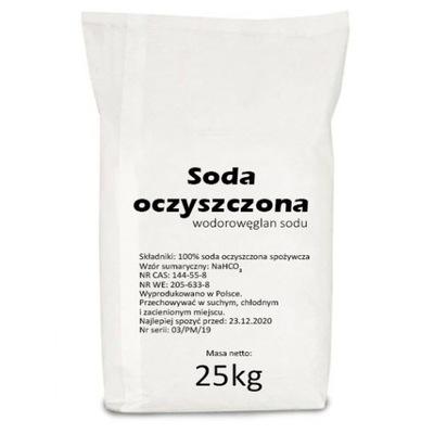 Пищевая СОДА польский  Пищевая 25 кг