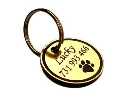 Идентификатор adresówka для небольшой собаки, 2 см гравер