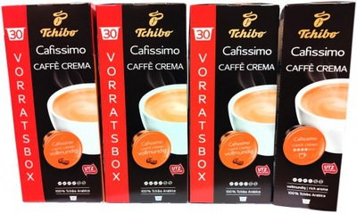Tchibo CAFISSIMO CAFFE CREMA VOLLMUNDIG 96 + 4шт