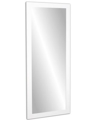 мега зеркало в раме 140x60 белое блеск