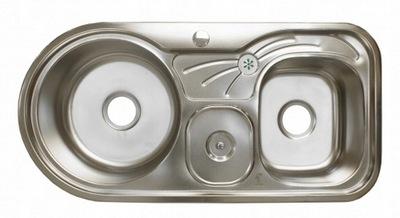 Umývadlo ocele 2-komora XZ03 91x44