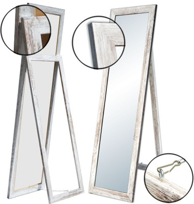 БОЛЬШИЕ зеркало раме стоящие 170x60 белое микс  *