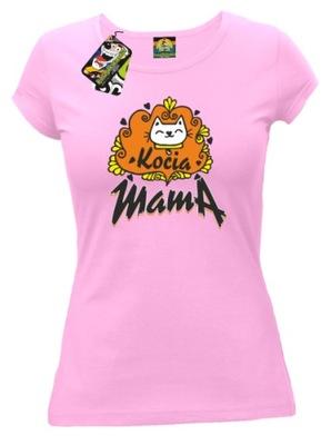 DAMSKA Koszulka: Kocia Mama KOT KOTEK z kotem /L