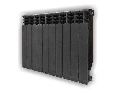 Радиатор алюминиевый VULCANO Антрацит Черный Графит