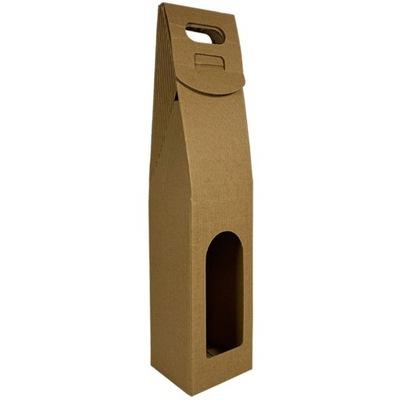 EKO pudełko torebka na wino z tektury pojedyńcze
