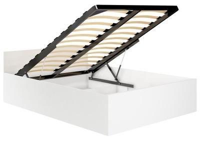 кровать 140х200 ПОДНИМАТЬ НОГИ металлический CLP белое