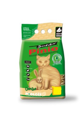 SUPER PINIO PELLET zielona herbata dla kota 35l