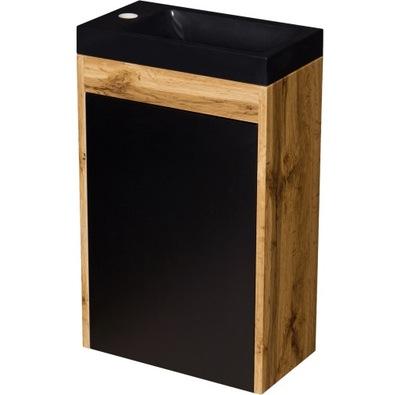 CLER чердак мебель для ванной комнаты шкаф черная +умывальник