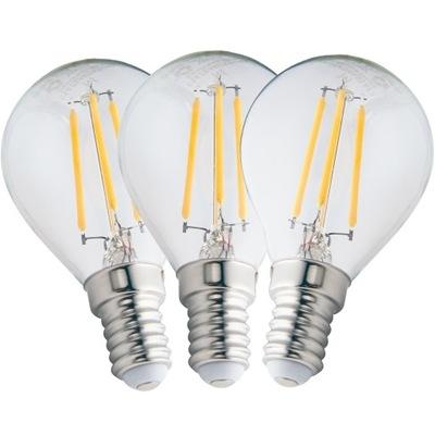 3x Лампа E14 LED FILAMENT 4ВТ ТЕПЛА ??? 480lm