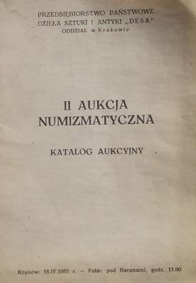 II АУКЦИОН NUMIZMATYCZNA –DESA – 1983