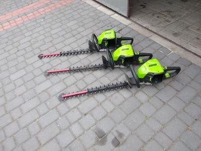 nożyce do żywopłotu greenworks 80v 61 cm
