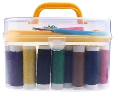 комплект портных нитки, иглы для шитье в коробке