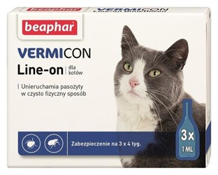 Beaphar kitty-milk, kitty-milk Vermicon ??? капли блох КЛЕЩЕЙ 3x1ml
