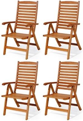 Exkluzívne záhradné stoličky vyrobené z dreva, terasa