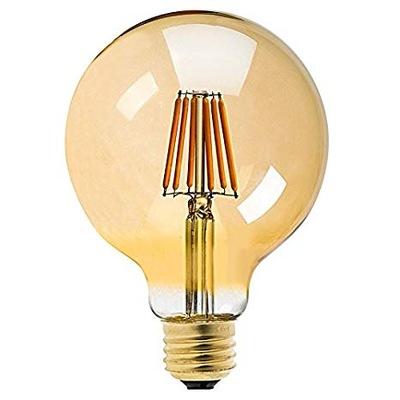 Лампа LED E27 G95 Декоративная шар filament 6W
