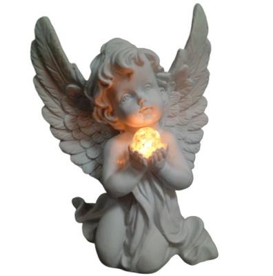 Опускается на колени ангел, с ДУШОЙ Большой вклад LED, Могила подсвечник