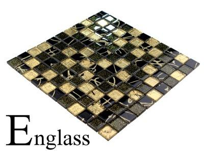 Мозаика стеклянная золота черная ORO-NEGRO ENGLASS