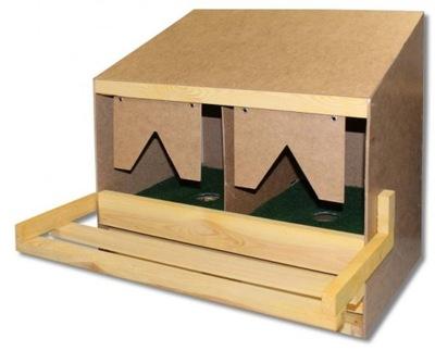 Гнезда для кур-несушек двойные с ящиком + коврики