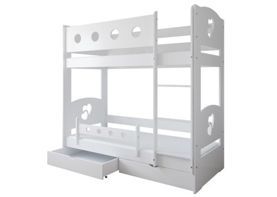 Poschodová posteľ 160x80 DOMINIK zásuvky a matrac