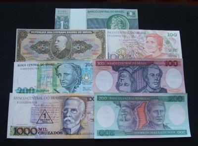 ZESTAW BANKNOTÓW BRAZYLIA !!! STAN UNC !!! OKAZJA