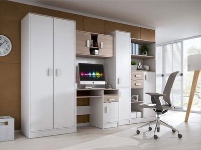 Мебель молодежные комплект белое стол шкаф стеллаж