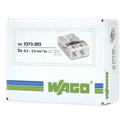 Rýchle konektor Wago 2273 2x2,5 original 100ks.