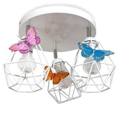 ZAUJÍMAVÉ stropné Svietidlo MOTÝĽ BIELE 3 - LED môžete