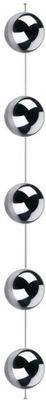 шарики стальные, серебряные 100 см Цепь