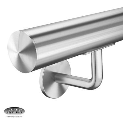 Перила Стены Сто двадцать пять см, модель 0111, Нержавеющая сталь