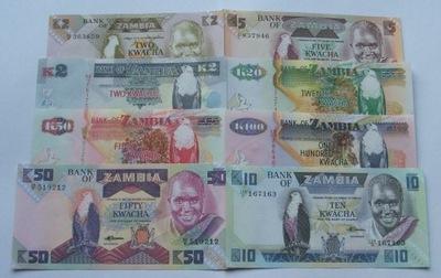 ZESTAW BANKNOTÓW ZAMBIA - Z PACZKI BANKOWEJ