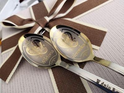 подарок на день рождения Чайная ложка grawerowana именная