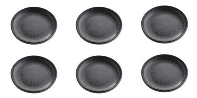 комплект 6 x тарелка десертная 19 см черные КРАПИНКУ