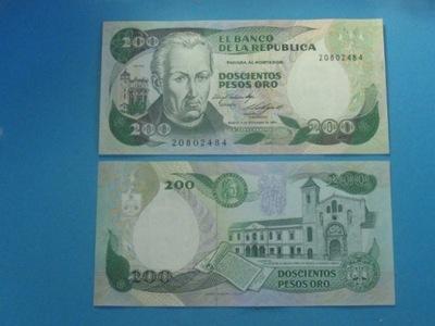 Колумбия Банкнота 200 Песо 1984 UNC P-429b