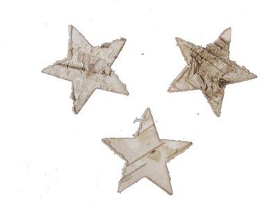 звезды берестой 3 .5см/8??. . декор гирлянда