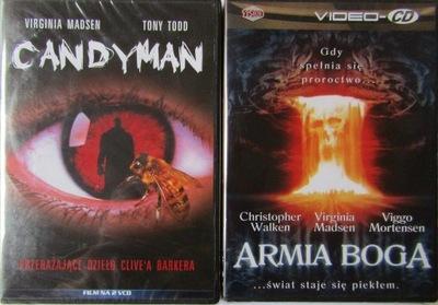 ZESTAW VCD CANDYMAN + ARMIA BOGA - W FOLII