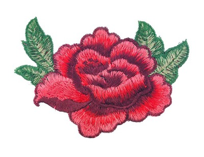 роза полоса вышитая цветок аппликация 12cm