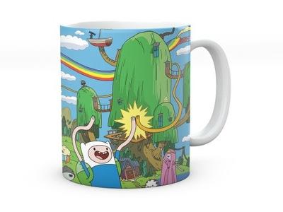 Kubek Adventure Time + imię Czas na przygodę!