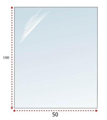 СТЕКЛО Основа ПОД КАМИН ЗАКАЛЕННОЕ стекло 100Х50