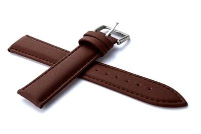 Pasek do zegarka skórzany 18mm brązowy