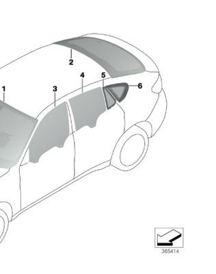 СТЕКЛО ЗАД ЗАД BMW X6 F16