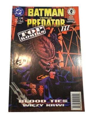 BATMAN versus PREDATOR III 1/99 stan kolekcjon.
