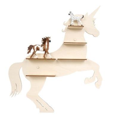 полка стеллаж на фигурки лошадей, PK30
