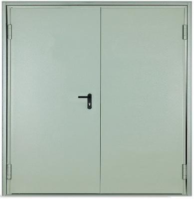 двери СТАЛЬНЫЕ металлические ДВУСТВОРЧАТЫЕ 210 x 200