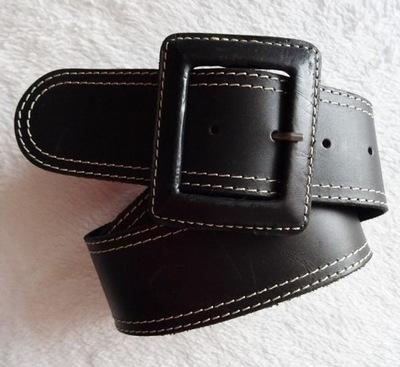 40f87b811b2963 Pieces - czarny pasek z baskinką - 70 cm - 5172235869 - oficjalne ...