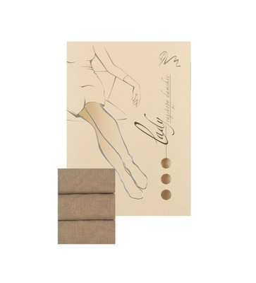 Rajstopy bawełniane LADY WOLA L 170-176 Beż