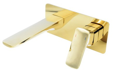 CUBIC GOLDEN CONCEALED Basin Mixer SQUARE