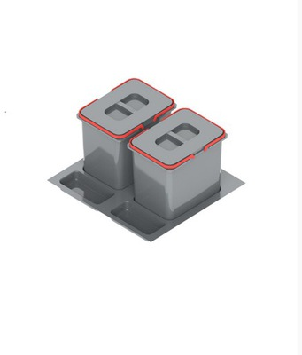 Контейнер для отходов PRACTIKO 60 Двойной (2x15l)КРУИЗ