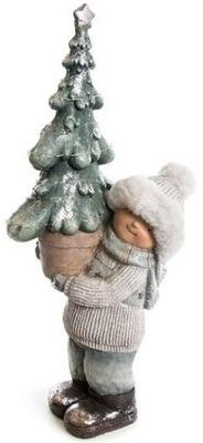 фигурка Декоративная Праздничная Ребенок с Елкой