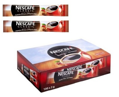 кофе растворимая Nescafe CLASSIC 100 ПАКЕТИКОВ